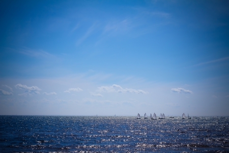 Sailboats at the sea