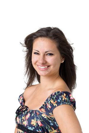 Smiling girl isolated on white background