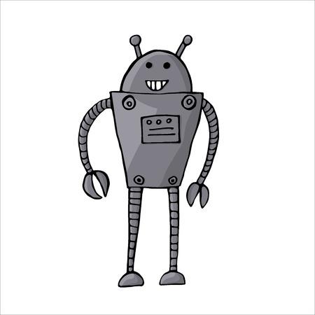 Vector illustration of cartoon robot isolated on white Stock fotó - 29835282