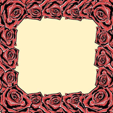 Rose frame. Vector.eps 8.