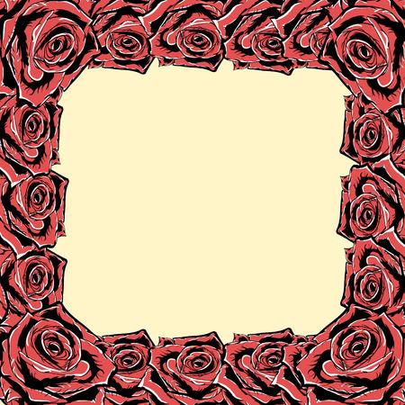 Rose frame. Vector.eps 8.
