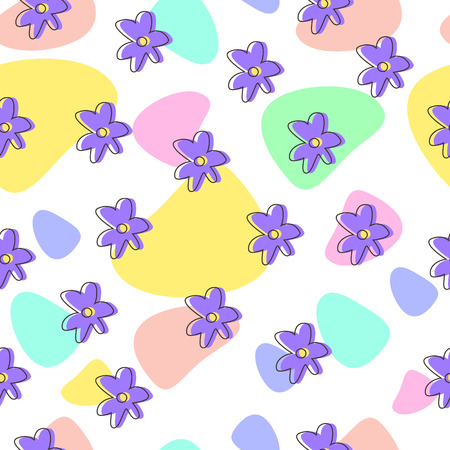 Seamless pattern with flowers. eps 8.