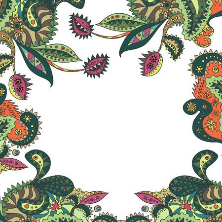 Card with unique plants.  Illustration