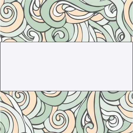 Hand drawn vector frame with wonderful curls Illustration
