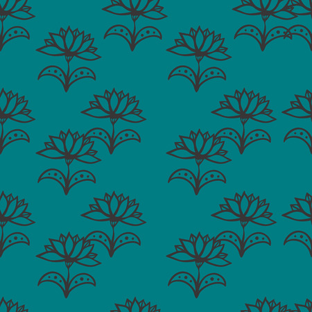 Seamless pattern with flowers. Eps 8. Illustration