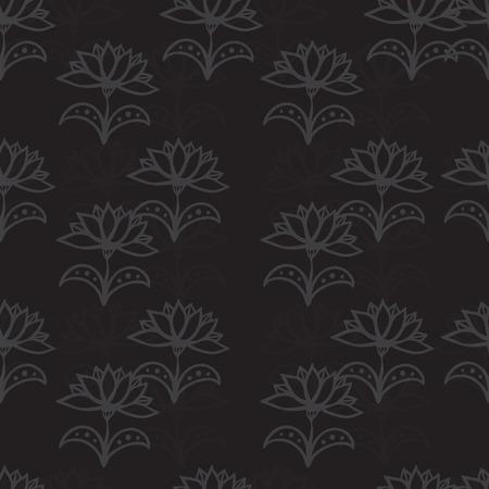 Seamless pattern with flowers. Eps 10. Illusztráció