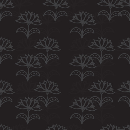 Seamless pattern with flowers. Eps 10. Vector