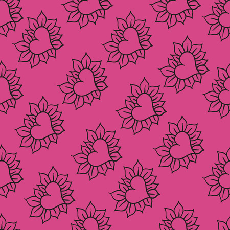 Hearts on the pink background. Eps 8.