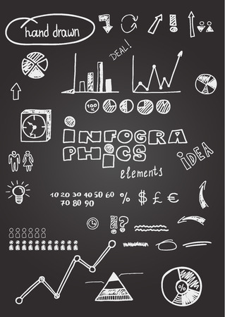 Infographics design elements. Eps 8. Illustration