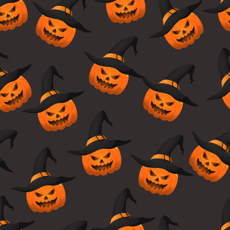 Halloween pumpkin seamless pattern. Eps 10.