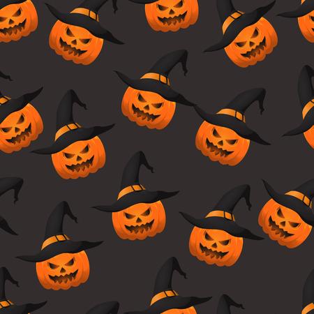 Halloween pumpkin seamless pattern. Eps 10.