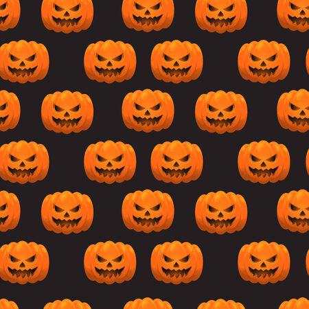 Halloween pumpkins pattern. Eps 10.