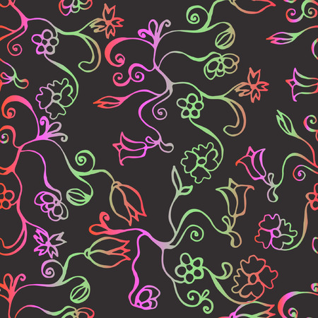 Colorful seamless pattern with flowers. Eps 10.