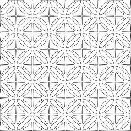 与三角元素的几何传染媒介样式。壁纸和背景的无缝的抽象装饰品。黑色和白色的颜色。