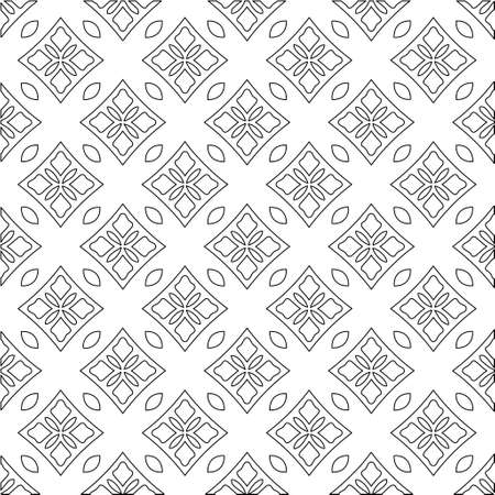 Geometric vector pattern with triangular elements. Seamless abstract ornament for wallpapers and backgrounds. Black and white colors.