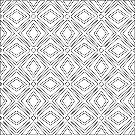 Geometric vector pattern with Black and white colors. Seamless abstract ornament for wallpapers and backgrounds. Vektoros illusztráció