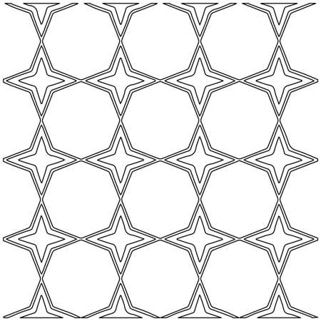 Geometric vector pattern with Black and white colors. Seamless abstract ornament for wallpapers and backgrounds.