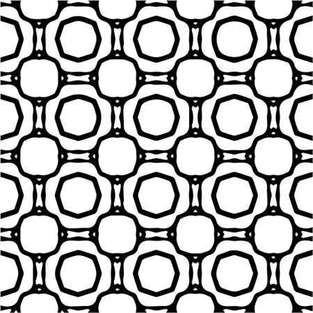 Geometric vector pattern with Black and white colors. Seamless abstract ornament for wallpapers and backgrounds. Vektorové ilustrace