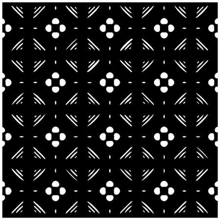 Geometric vector pattern with triangular elements. abstract picture for wallpapers and backgrounds. Black and white ornament.