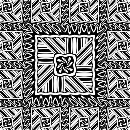 Geometric vector pattern with triangular elements. abstract picture for wallpapers and backgrounds. Black and white ornament. Vektorové ilustrace