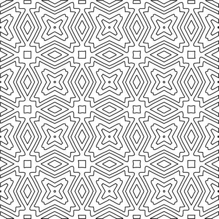 Vector monochrome seamless pattern, Abstract endless texture for fabric print, card, table cloth, furniture, banner, cover, invitation, decoration, wrapping
