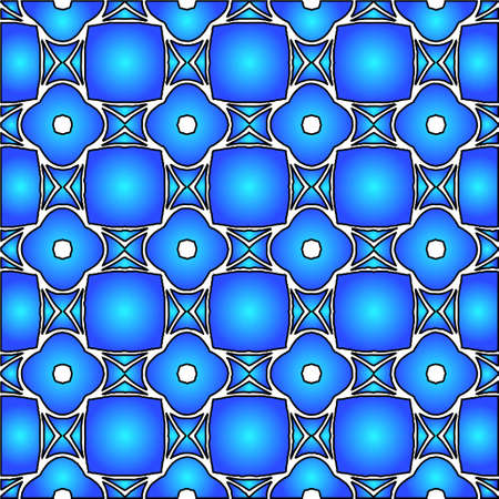 Geometric vector pattern with azure and blue gradient. simple ornament for wallpapers and background. Vector Illustration