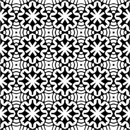 Vector monochrome pattern, Abstract texture for fabric print, card, table cloth, furniture, banner, cover, invitation, decoration, wrapping. Vetores