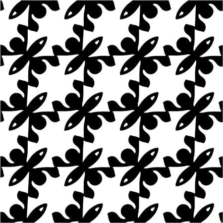 vector seamless pattern with triangular elements. abstract ornament for wallpapers and backgrounds. Black and white colors. Ilustração Vetorial