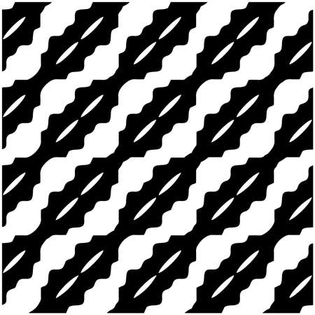 vector seamless pattern with diagonal elements. abstract ornament for wallpapers and backgrounds. Black and white colors.