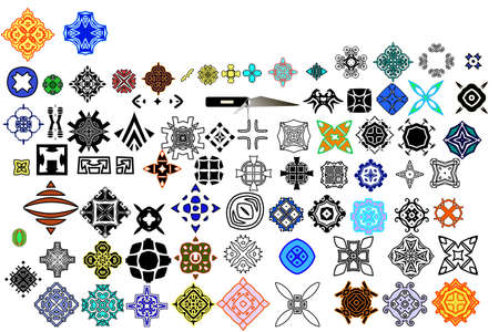 78 different icons and floral elements for your design.