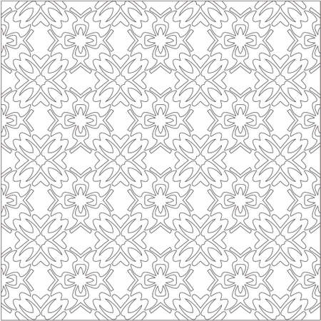 Vector geometric pattern. Repeating elements stylish background abstract ornament for wallpapers and backgrounds. Black and white colors