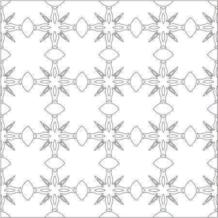 Vector geometric pattern. Repeating elements stylish background abstract ornament for wallpapers and backgrounds. Black and white colors Vecteurs