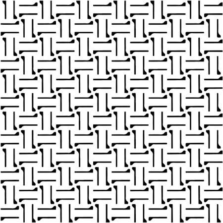 Seamless vector pattern in geometric ornamental style. Black and white pattern.
