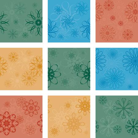 nine seamless patterns