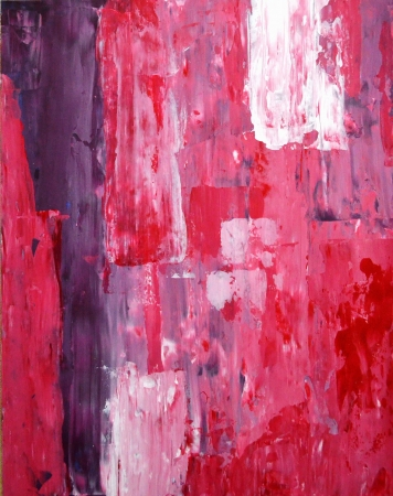 paintings: Pink and Purple Abstract Art Painting Stock Photo