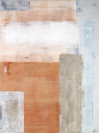 Grijs en Bruin Abstracte kunst Schilderen Stockfoto