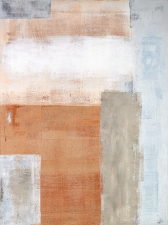 CUADROS ABSTRACTOS: Gris y marrón Pintura del arte abstracto