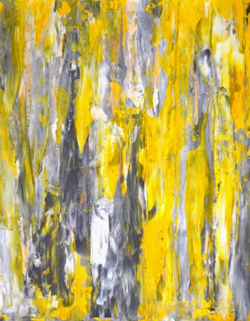 paintings: Grey and Yellow Abstract Art Painting Stock Photo
