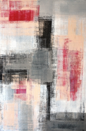 Grey and Red Abstract Art Painting Archivio Fotografico
