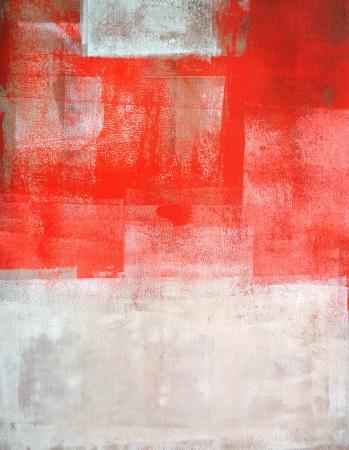 コーラルとベージュの抽象芸術