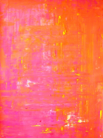 Pink and Orange Abstract Art
