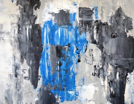 グレーとブルー抽象芸術絵画 写真素材