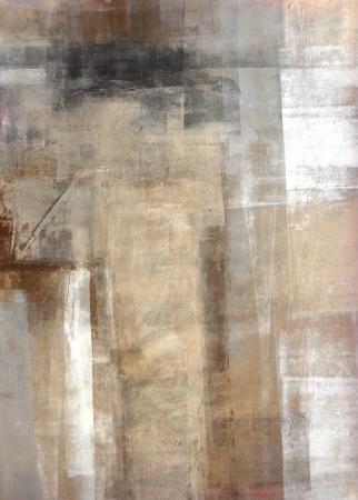 abstrakt: Brunt och beige abstrakt konstmålning