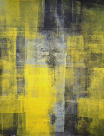 abstract painting: Black and Yellow Abstract Art Painting
