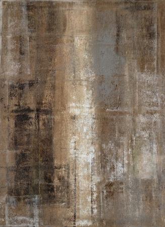 cuadros abstractos: Gris y marr?n Pintura del arte abstracto