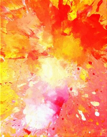 CUADROS ABSTRACTOS: Arte rosado y anaranjado de la pintura abstracta Foto de archivo