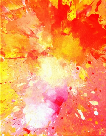 abstract paintings: Pink and Orange Abstract Art Painting