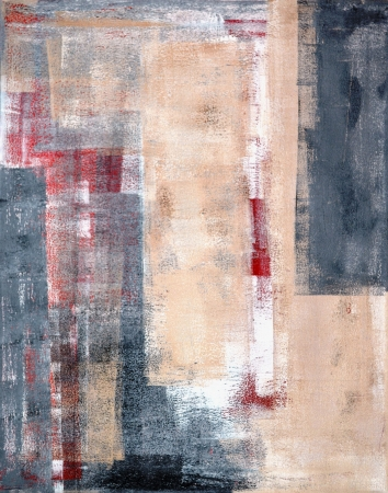 abstract painting: Grey and Beige Abstract Art Painting Stock Photo
