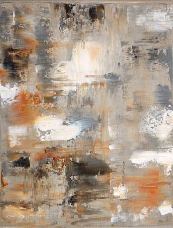 Bruin en Beige Abstracte kunst Schilderkunst