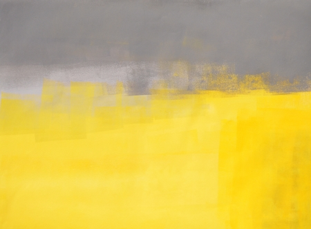 Grey en Yellow Abstract Art Painting